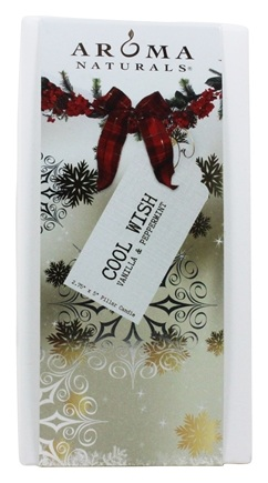 Aroma Naturals - Wish Holiday Soy VegePure Pillar Eco-Candle Peppermint & Vanilla