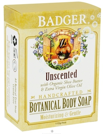 DROPPED: Badger - Handcrafted Botanical Body Soap Unscented - 4 oz. cLEARANCE PRICED