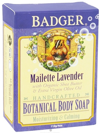 DROPPED: Badger - Handcrafted Botanical Body Soap Mailette Lavender - 4 oz. CLEARANCE PRICED