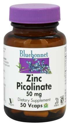 Bluebonnet Nutrition - Zinc Picolinate 50 mg. - 50 Vegetarian Capsules