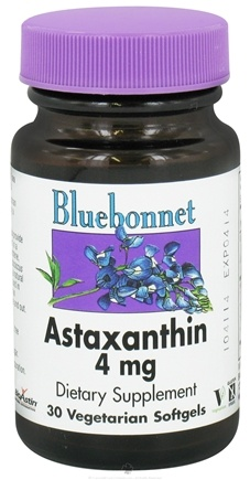 DROPPED: Bluebonnet Nutrition - Astaxanthin 4 mg. - 30 Vegetarian Softgels CLEARANCE PRICED