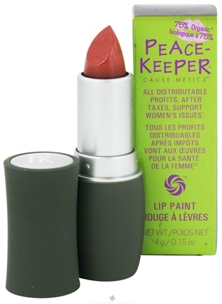 DROPPED: PeaceKeeper Cause-Metics - Lip Paint Natural Lipstick Paint Me Brave - 0.15 oz. CLEARANCE PRICED