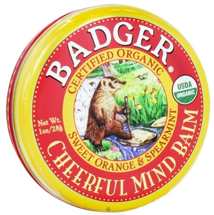 DROPPED: Badger - Cheerful Mind Balm Sweet Orange & Spearmint - 1 oz. CLEARANCE PRICED