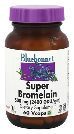 DROPPED: Bluebonnet Nutrition - Super Bromelain 2400 GDU 500 mg. - 60 Vegetarian Capsules CLEARANCE PRICED