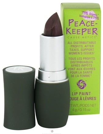 DROPPED: PeaceKeeper Cause-Metics - Lip Paint Natural Lipstick Paint Me Mysterious - 0.15 oz. CLEARANCE PRICED