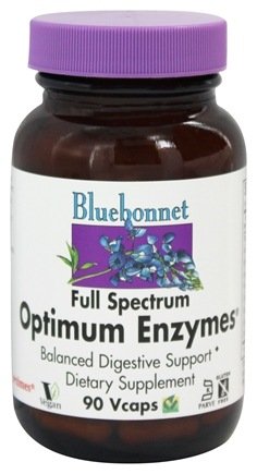 Bluebonnet Nutrition - Optimum Enzymes - 90 Vegetarian Capsules