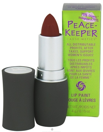 DROPPED: PeaceKeeper Cause-Metics - Lip Paint Natural Lipstick Paint Me Compassionate - 0.15 oz. CLEARANCE PRICED