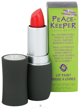 DROPPED: PeaceKeeper Cause-Metics - Lip Paint Natural Lipstick Paint Me Strong - 0.15 oz.
