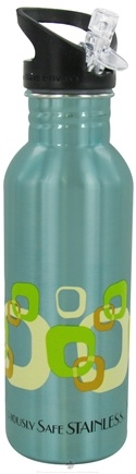 DROPPED: New Wave Enviro Products - Flip N' Sip Stainless Steel Water Bottle Geometric - 0.6 Liter(s) CLEARANCE PRICED