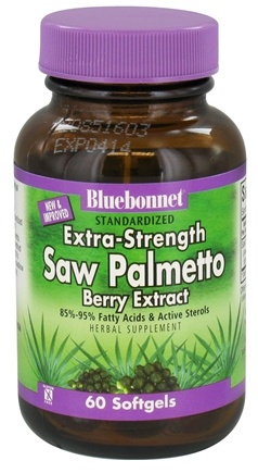 DROPPED: Bluebonnet Nutrition - Standardized Extra-Strength Saw Palmetto Berry Extract 320 mg. - 60 Softgels CLEARANCE PRICED