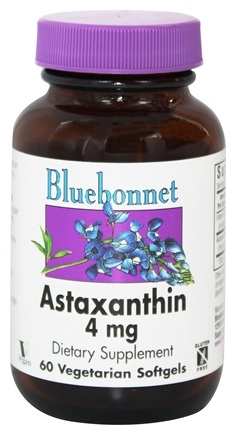 Bluebonnet Nutrition - Astaxanthin 4 mg. - 60 Vegetarian Softgels