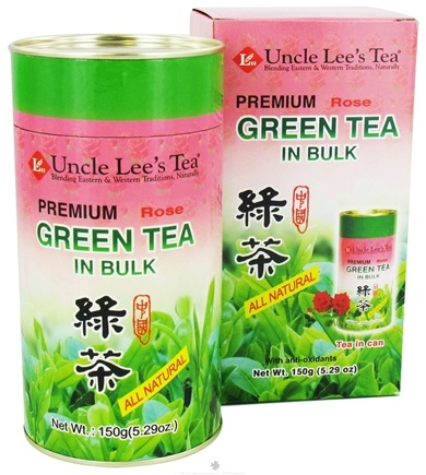 DROPPED: Uncle Lee's Tea - Green Tea Bulk Premium All Natural Rose - 5.29 oz. CLEARANCE PRICED