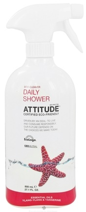 DROPPED: Attitude - Daily Shower Cleaner Ylang-Ylang & Tangerine - 27.1 oz. CLEARANCE PRICED
