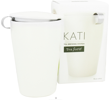 DROPPED: Tea Forte - Kati Tea Brewing Cup Bone White - 12 oz. CLEARANCE PRICED