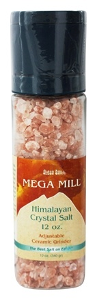 DROPPED: Himalayan Salt - Crystal Salt Mega Mill By Aloha Bay - 12 oz.