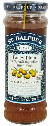 DROPPED: St. Dalfour - Fruit Spread 100% Natural Jam Fancy Plum - 10 oz.