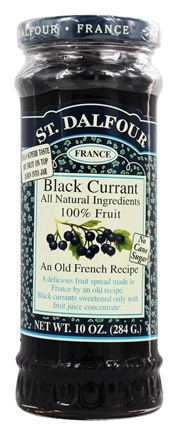 St. Dalfour - Fruit Spread 100% Natural Jam Black Currant - 10 oz.