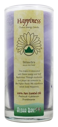 Aloha Bay - Chakra Energy Candle Jar Happiness - 11 oz.