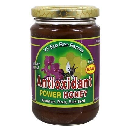 YS Organic Bee Farms - Raw Antioxidant Power Honey - 13 oz.