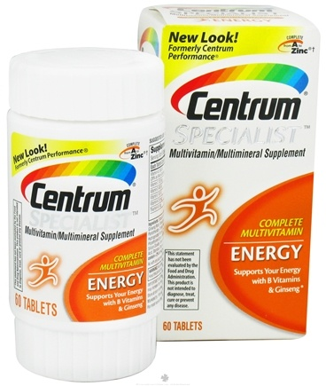 DROPPED: Centrum - Specialist Complete Multivitamin Energy - 60 Tablets CLEARANCE PRICED