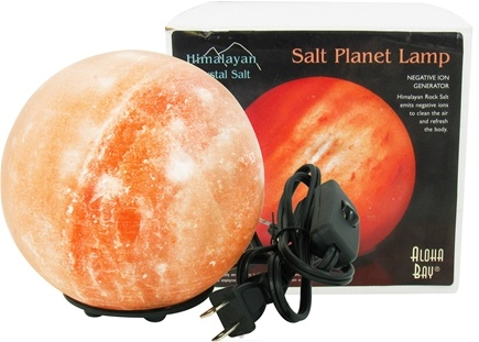 Himalayan Salt - Planet Lamp By Aloha Bay - 6 in.