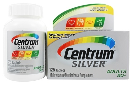 Centrum - Silver Multivitamin/Multimineral for Adults 50+ - 125 Tablets