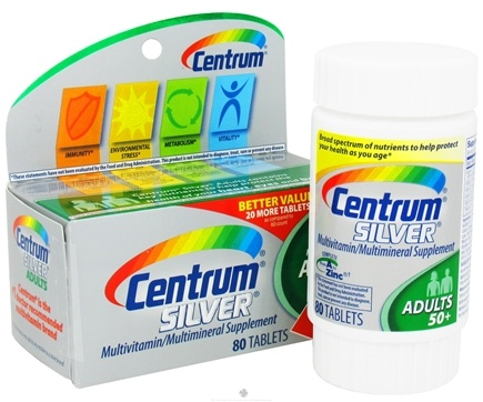 DROPPED: Centrum - Silver Multivitamin/Multimineral for Adults 50+ - 80 Tablets CLEARANCE PRICED