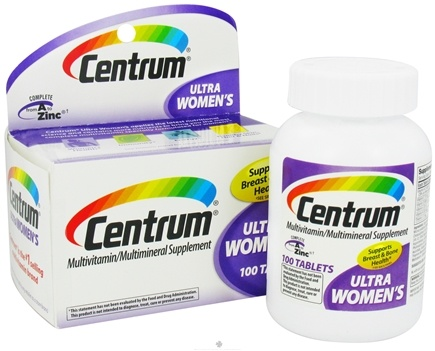 DROPPED: Centrum - Ultra Women's Multivitamin/Multimineral Supplement - 100 Tablets CLEARANCE PRICED