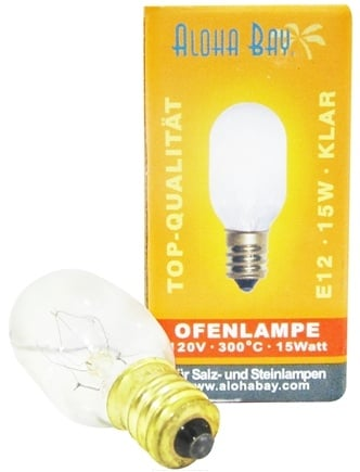 Himalayan Salt - Lamp Replacement Bulb 15 Watts/110 Volts Clear