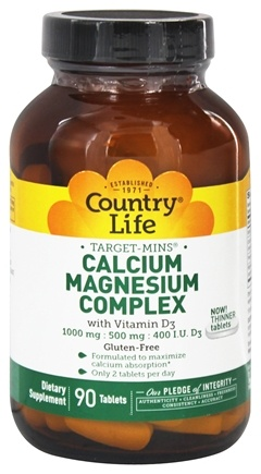 Country Life - Calcium Magnesium Complex With Vitamin D3 - 90 Tablets
