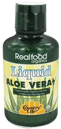 DROPPED: Country Life - Real Food Organics Liquid Aloe Vera - 16 oz. CLEARANCE PRICED