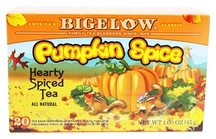 Bigelow Tea - Black Tea Autumn Pumpkin Spice - 20 Tea Bags