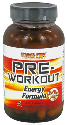 DROPPED: Iron Tek - Pre Workout  Energy Formula - 90 Vegetarian Capsules