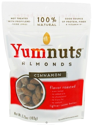 DROPPED: Yumnuts Naturals - Almonds Cinnamon Flavored - 5.75 oz. CLEARANCE PRICED