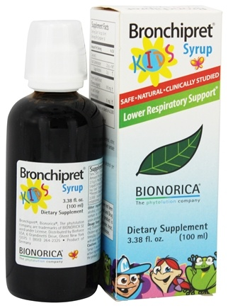 Bionorica - Bronchipret Syrup Herbal Supplement For Kids - 3.38 oz.