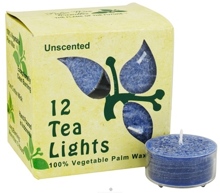 DROPPED: Aloha Bay - 100% Vegetable Palm Wax Tea Light Candles Unscented Indigo - 12 Pack