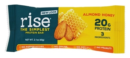 Rise Foods - Rise Protein Bar Almonds Honey - 2.1 oz. Formerly Boomi Bar