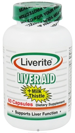 DROPPED: Liverite Products - Liver Aid + Milk Thistle - 60 Capsules CLEARANCE PRICED