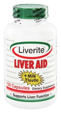 Liverite Products - Liver Aid + Milk Thistle - 150 Capsules