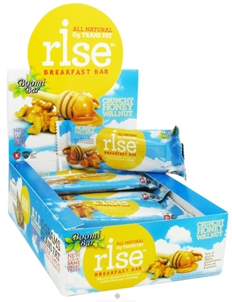 DROPPED: Rise Foods - Rise Breakfast Bar Crunchy Honey Walnut - 1.4 oz. Formerly Boomi Bar