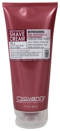 Giovanni - Moisturizing Shave Cream Refreshing Pink Grapefruit & Pomegranate - 7 oz.