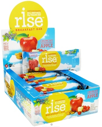 DROPPED: Rise Foods - Rise Breakfast Bar Crunchy Cranberry Apple - 1.4 oz. Formerly Boomi Bar CLEARANCE PRICED