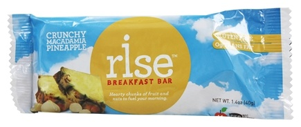 Rise Foods - Rise Breakfast Bar Crunchy Macadamia Pineapple - 1.4 oz. Formerly Boomi Bar