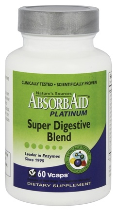 Absorbaid - Platinum Super Digestive Blend - 60 Vegetarian Capsules