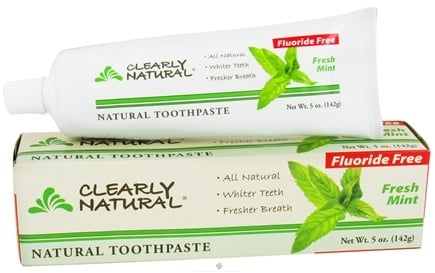 DROPPED: Clearly Natural - Natural Toothpaste Fluoride Free Fresh Mint - 5 oz. CLEARANCE PRICED