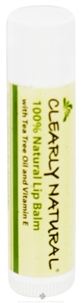 DROPPED: Clearly Natural - 100% Natural Lip Balm - 0.15 oz. CLEARANCE PRICED