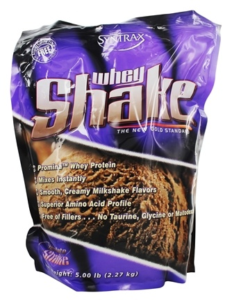 Syntrax - Whey Shake Whey Protein Concentrate Chocolate - 5 lbs.