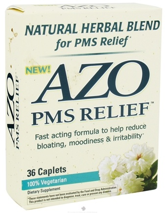 DROPPED: Azo - PMS Relief Natural Herbal Blend Natural Cinnamon Flavor - 36 Caplets