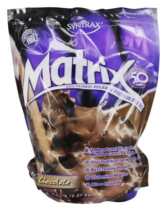 Syntrax - Matrix 5.0 Sustained-Release Protein Blend Milk Chocolate - 5.32 lbs.