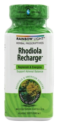 DROPPED: Rainbow Light - Rhodiola Recharge Adrenal Balance Support - 60 Vegetarian Capsules